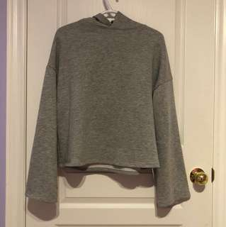 Zara oversized cropped hoodie