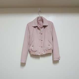 🚚 粉膚色保暖外套