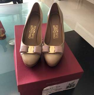 authentic Salvatore Ferragamo wedge heels