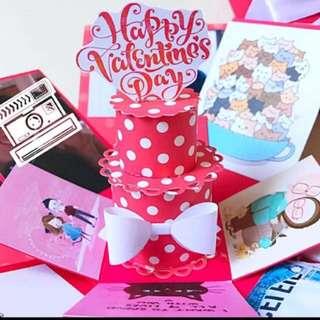 Happy Valentine's day Explosion Box Card