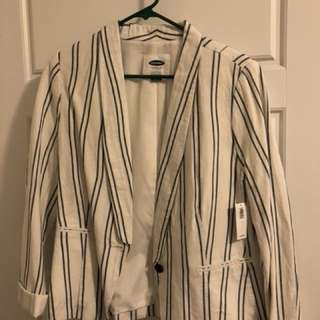Striped Linen Blazer