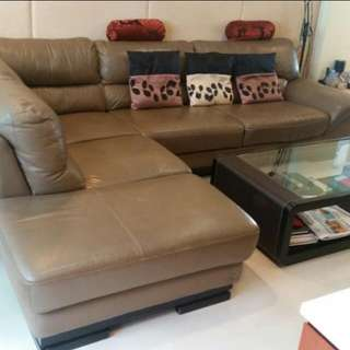 Lorenzo Full Leather Sofa Set