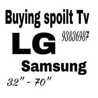 Wanted faulty  and spoilt tv , LG Samsung Panasonic Sharp Philips