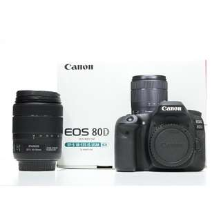 Canon EOS 80D Body Only (Canon Malaysia Warranty until 04/2019)