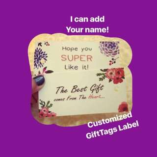 Customised Gift label tag