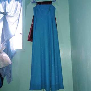 Sky Blue Long Gown