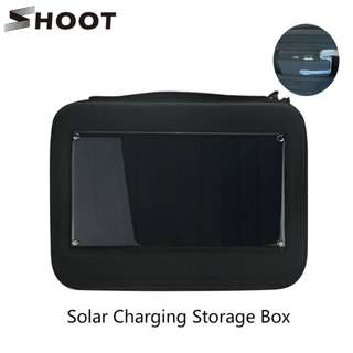 SHOOT Solar Charging Storage Case for GoPro,  SJCAM, XiaoYi and other Action Camera