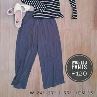 Wide Leg Pants / Culottes