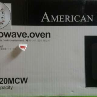 For sALE MICROWAVE OVEN(AMERICAN HOME)2O LITERS CAPACITY