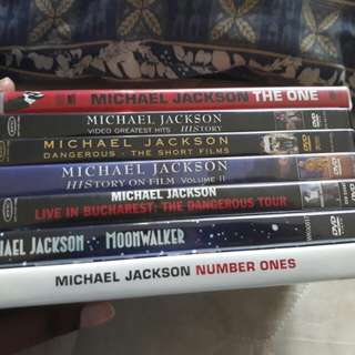 Michael Jackson Dvd collection
