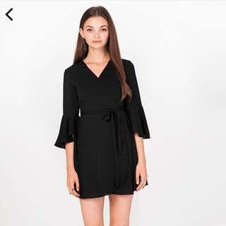 TCL Aubrey Skirt Romper in Black (M)