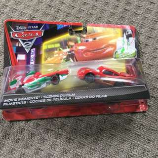 Disney Cars 2 Movie Moments Diecast - Francesco Bernoulli and Ka-Ciao McQueen
