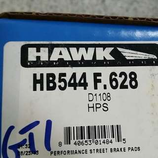 Hawk hps hb544f.628 Rear Brake Pad For Vw Gti Audi A3 And More