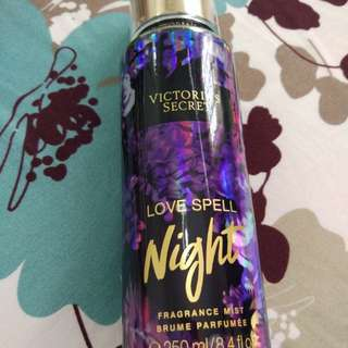 [LIKE NEW ONLY 1XSPRAY] VICTORIA'S SECRET BODY MIST LOVE SPELL NIGHT MOON LIGHT PATH