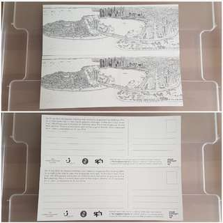 BN Limited Edition Stephen Wiltshire Postcard (Singapore Skyline)