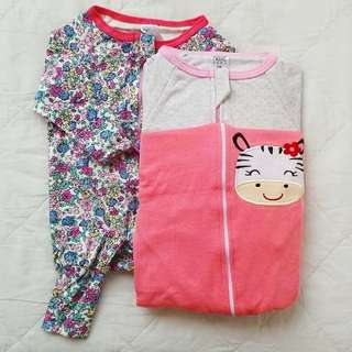 Sleepsuit zip inspired BONDS 3-6m
