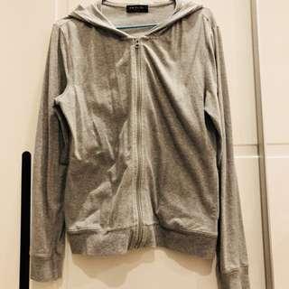 NET灰色連帽彈性遮陽薄外套
