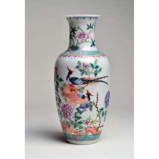 20世紀薄胎外銷粉彩瓶