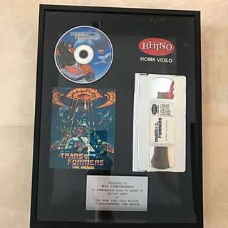 Transformers The Movie Commemorative Plaque