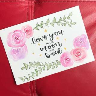 Floral Watercolour Calligraphy Cards