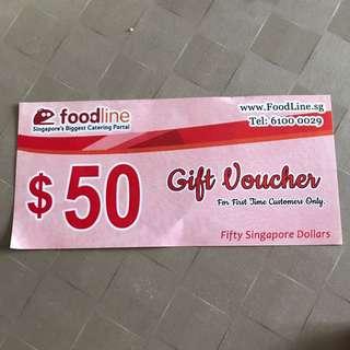 Foodline gift voucher $50
