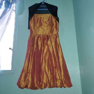 Golden Brown Cocktail Gown