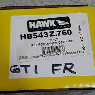 Hawk hp performance ceramics hb543z.760 Front Brake Pad With Sensor For Vw Gti Audi A3 And More