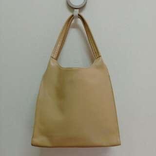 Nude Genuine Leather Shoulder Bag