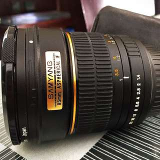 SAMYANG 85mm Aspherical IF f1.4 (Canon EOS Mount)