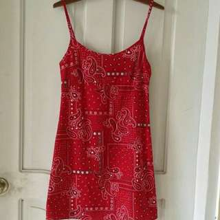 Retro Red Bandana dress