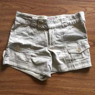 Cream colored shorts