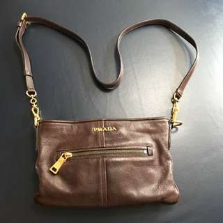 Authentic Prada Leather Sling Bag