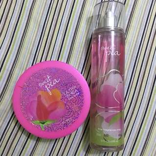 Bath & Body Works Sweet Pea Set