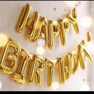 13 pieces Happy birthday balloon