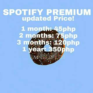 Spotify for only 45pesos