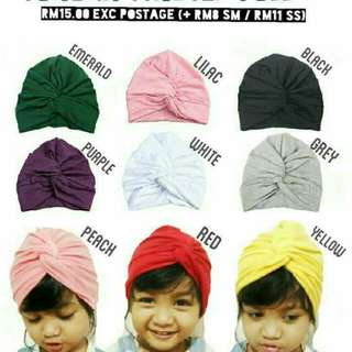 🆕2018🆕HEADBAND TURBAN FULL TWISTED BABY KIDS RM15