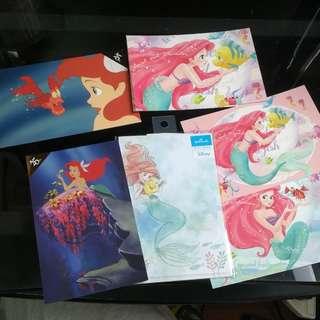 日本 迪士尼 Disney Ariel 美人魚 明信片 名信片 postcard post card