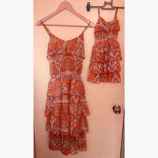 Preloved twinning dresses for mommy and baby