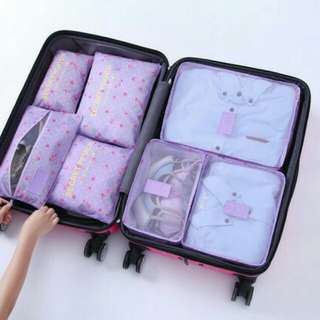 Traveling Bag in Bag Organizer (1 set isi 7 pcs )