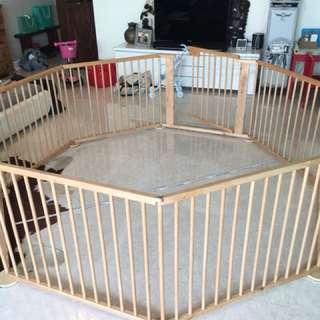 Huge versatile playyard child barrier