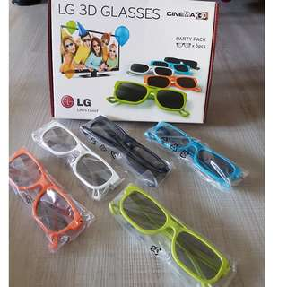 LG 3D Glasses in party pack of 5s