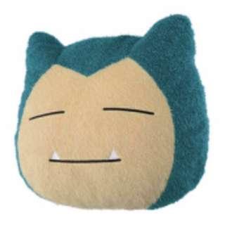 KOAOISORA 3月預訂 寵物小精靈 Pokemon Sun/Moon-Huge Snorlax Face Cushion ポケットモンスター サン&ムーン カビゴン 38cm 卡比獸 景品咕𠱸 (全新)