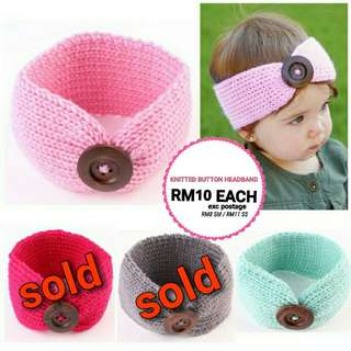 🆕2018🆕 KNITTED BUTTON HEADBAND RM10