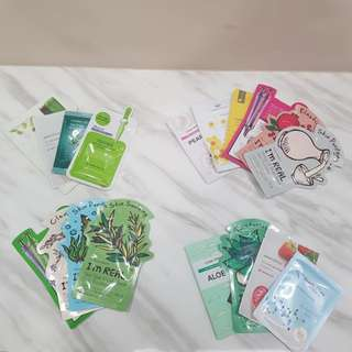 Curated sheet masks set