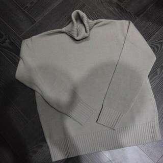 DAMS棉料針織高領上衣(淺灰色)