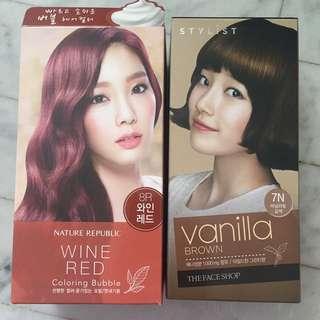 Nature Republic The face shop hair colour