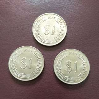 Old Singapore Coins $1