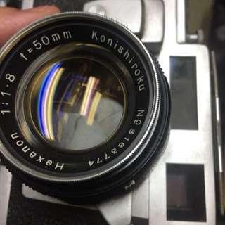 底片 單眼相機 Konica iiim f1.8 含保護鏡 無前蓋