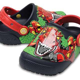BNWT Crocs Dinosaur Fun Lab Lights Up Clog