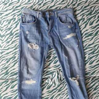 Zara Man Ripped Pants/Jeans